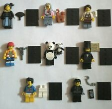 Genuine LEGO MINIFIGURES MOVIE SERIES 1 Lot of 8 Different, Cat Lady/Lincoln/etc
