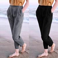 Womens Full Length Cotton//Viscose Leggings Plus Size 6 8 10 12 14 16 18 20 22 CT