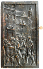 More details for antique carved wooden picture furniture panel 21
