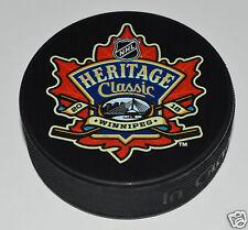WINNIPEG JETS vs EDMONTON OILERS 2016 NHL Heritage Classic Outdoor SOUVENIR PUCK