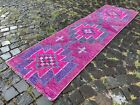 Bohemian rug, Runner, Handmade rug, Turkish rug, Vintage rug | 2,1 x 7,4 ft
