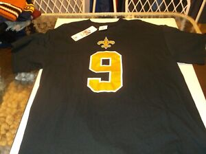 New Orleans Saints Drew Brees NFL Team Apparel athletic coordinator shirt L D2