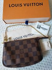 Authentic Louis Vuitton Pouch Mini Pochette Accessoire N58009 Brown Damier