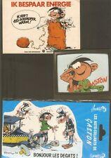 FRANQUIN ; Gaston Lagaffe   lot de 3 autocollants  vintage RARES années 80/90