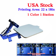 Us Stock 1 Color 1 Station T Shirt Silk Screen Printing Machine