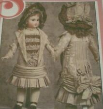 """Antique French Doll Long-Waisted Dress w/Drape Pattern 27"""""""