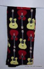 Guitars on Black Mens/Womens Socks