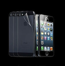 12pc = 6 front + 6 back HD Clear LCD Screen Protector for Apple iPhone 5 5C 5S