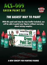 Andrea Miniatures Green Acrylic Paint Set 6 Bottles