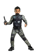 G.I. Joe Retaliation ROADBLOCK Child Muscle Costume Boys S (6) NEW Disguise