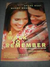 A WALK TO REMEMBER - ORIGINAL DS THEATRICAL POSTER - MANDY MOORE
