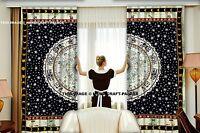 Indisches Mandala Astrologie Bohemian Fenster Vorhang Tür Flur Wand 2 Teile