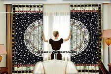Indian Mandala Bohemian Window Curtain Dorm Astrology Tapestry Wall Curtain 2 PC