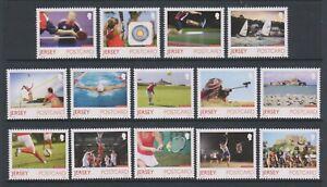 Jersey - 2015, Island Games, Sport, Natwest set - MNH - SG 1955/68
