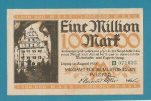GERMANY - Notgeld LEIPZIG 1,000,000 Mark 1923 - Scarce a/UNCIRCULATED - LOOK!