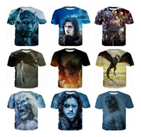 Hot Women/men Game of Thrones 3D print Short Sleeve Casual T-Shirts S-5XL