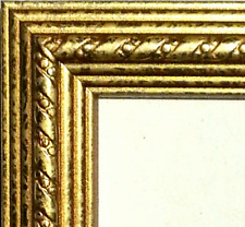24 ft - Gold Picture Frame Moulding~Wood~Weathered~Ribbon Crown Ornate~Length