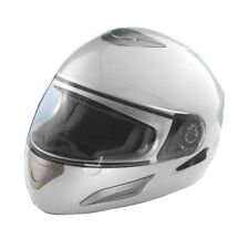 Crivit Full Face Sports Motorcyle Motorbike Scooter Safety Road Helmet Silver