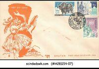 BHUTAN - 1962 INAUGURATION OF BHUTAN - 4V - FDC