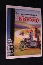 Art Card The unapproachoable Norton, the World's best Road Holder