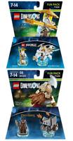 LEGO DIMENSIONS FUN PACK LORD OF THE RINGS GIMLI 71220 Ninjago SENSEI WU 71234