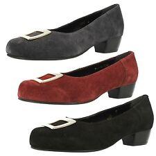 Court Block Heel Suede Shoes for Women