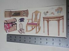 TUMBLEBEASTS COUNTRY FURNITURE CHEST CLOCK STICKERS SCRAPBOOKING NEW A2874