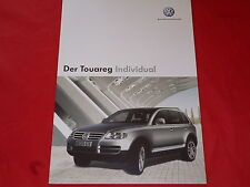 VW Touareg Individual prospectus + liste de prix de 2004