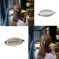 Shiny Banana Clip Women Crystal Hair Clips Ponytail Hairpin Headwear Access G9H4