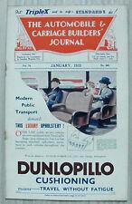 The AUTOMOBILE & CARRIAGE BUILDERS JOURNAL Magazine Jan 1935 Vol 74 No 440