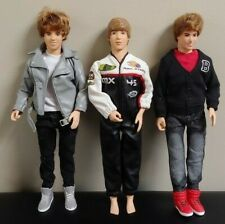 3 Justin Bieber Rare Doll Shoes Dress Clothes MX Max Steel Outfit Authentic Lot