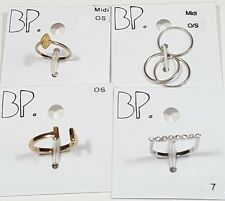 New Rings Lot of 4 Gold/Silver Tone Metal Wedding Sz-7 S/M from Nordstrom #4887