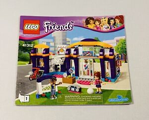 LEGO Friends Heart Lake Sports Centre Set 41312 Instruction Manual #1 Only