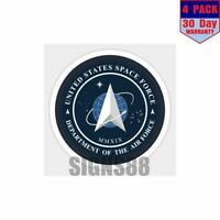 Official Space Force Emblem 4 pack 4x4 Inch Sticker Decal