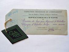 Insigne Tissu Patch Losange mod.1945 Rare Spécimen Type 1952 LEGION ETRANGERE 1°