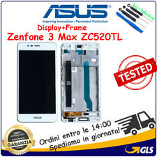 TOUCH SCREEN DISPLAY ASUS ZENFONE 3 MAX ZC520TL x008d BIANCO CON FRAME