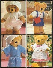 Teddy Bear Essentisals Knitting Patterns Dress, Hat,  Gown, Skirt  DK  733