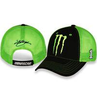 Kurt Busch #1 Monster 2020 Nascar Sponsor Mesh Adjustable Hat / Cap