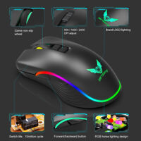 2.4GHz Wireless Gaming Mouse USB C Rechargeable Optical Mice for PC Computer