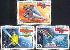 Russia 1978 spazio/Rocket/satellitare/Scienza/Cristallo/spedizione/trasporto Set 3 V (b4687)
