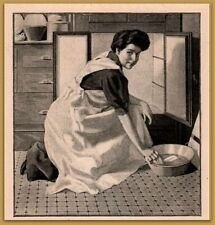 30% OFF 3 SALE !!   1905 Ivory Soap Woman Cleaning Refrigerator Print Ad