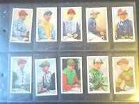 1936 Gallaher FAMOUS JOCKEYS complete set 48 cards Tobacco Cigarette card