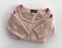 Auth GIANNI VERSACE Womens Soft Sweater Jumper Light Pink Color Size 42