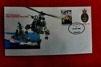 75TH ANNIV OF NAVY PSE AFPO4  POSTMARK #4 12 APRIL 1990 TIED WITH ANZAC STAMP