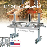"""NEW Portable Chainsaw Mill 14"""" to 24"""" Saw Chain Mill Aluminum Planking Lumber US"""
