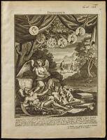 1749 - Frontispice Histoire d'Angleterre - Rapin de Thoyras. Muse Clio