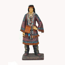 Native American Couple Travel with Two Coyotes Figural Collectible Statue Decor