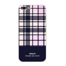 For iPhone 6 6S 7 Plus Phone Case Protective Soft TPU Back Cover Shell Plaid