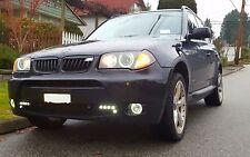 White Halo Fog Lamps Angel Eye Driving Lights Kit for 2004 2005 BMW X3 e83