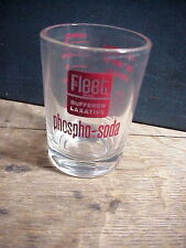 Vintage FLEET Buffered Laxative PHOSPHO- SODA 3 ounce SHOT GLASS